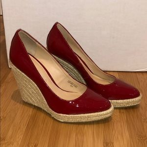 Via Spiga Red Patent Wedges size 6 new!